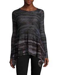 Context Asymmetrical Pullover Knit Sweater Evening Solstice