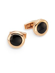 Colibri Hampton Onyx And Rose Goldtone Stainless Steel Cuff Links