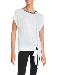 Bench Tie Accented Knit Top Bright White