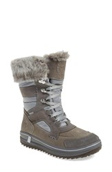 Santana Canada Women's 'Marta' Water Resistant Insulated Winter Boot Grey Fabric