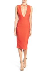 Missguided Women's Harness Neck Bandage Dress Red