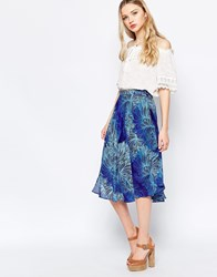 Sister Jane Puff Cloud Midi Skirt Blue