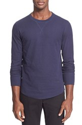 Men's Todd Snyder Double Knit Long Sleeve Sweater Navy