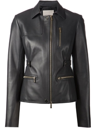 Jason Wu Leather Field Jacket Black