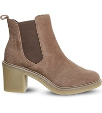 Office Loco Suede Chelsea Boots Taupe Suede