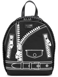 Moschino Biker Effect Backpack Black