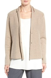 Eileen Fisher Women's Recycled Cashmere And Merino Wool Sweater Jacket