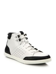 Saks Fifth Avenue By Cole Haan Owen Leather High Top Sneakers White