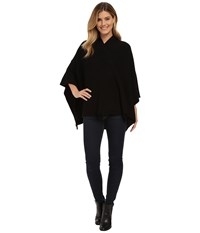 525 America Hi V Neck Poncho Black Women's Coat
