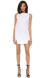 Robert Rodriguez Animal Jacquard Slip Dress White