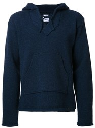 Bedwin And The Heartbreakers Front Pocket Hoodie Blue
