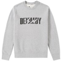 Denim By Vanquish And Fragment Logo Crew Sweat Grey