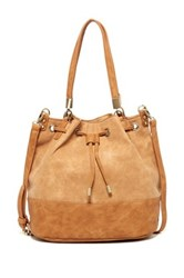 Shiraleah Azra Vegan Leather Bucket Bag Beige