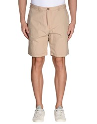 Red Soul Trousers Bermuda Shorts Men Beige