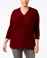 Charter Club Plus Size Cashmere Boxy Pullover Sweater Only At Macy's Crantini