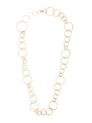 Rosa De La Cruz Yellow Gold Multi Link Chain Necklace Metallic