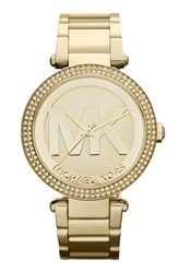 Michael Michael Kors Women's Michael Kors 'Parker' Logo Dial Bracelet Watch 39Mm Gold
