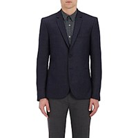Paul Smith Ps By Men's Houndstooth Stretch Wool Trousers Blue