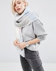 Asos Oversized Square Scarf In Blown Up Check Pink