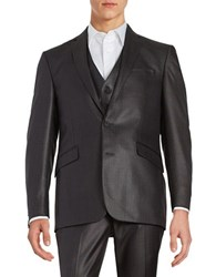 Kenneth Cole Reaction Two Button Jacket Gunmetal