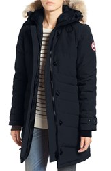 Canada Goose Women's 'Lorette' Hooded Down Parka With Genuine Coyote Fur Trim Ink Blue