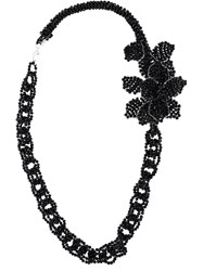 Night Market Beaded Chain Necklace Black