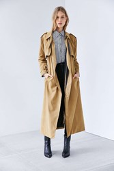Neon Rose Trench Coat Taupe