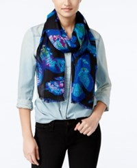 Inc International Concepts Butterfly Print Scarf Only At Macy's Black