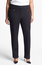 Sejour Ponte Knit Pants Plus Size Black