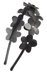Cara Faux Leather Flower Headband