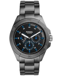 Fossil Men's Chronograph Sport 54 Smoke Tone Stainless Steel Bracelet Watch 44Mm Ch3035