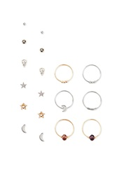 Forever 21 Charm Jewelry Set Gold Silver