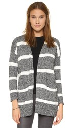Madewell Striped Charlie Cardigan Marled Pepper