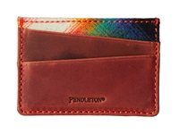 Pendleton Leather Front Pocket Wallet Ombre Plaid Bill Fold Wallet White