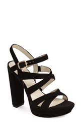 Women's Bcbgeneration 'Morgan' Platform Sandal Black Suede