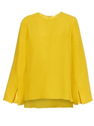 Adam By Adam Lippes Round Neck Crepe De Chine Top
