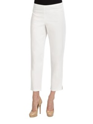 Eileen Fisher Stretch Organic Cotton Ankle Pants White Stone Black