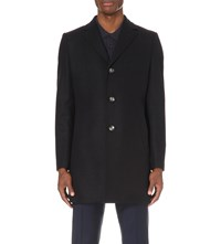 J. Lindeberg Wolger Wool Blend Coat Navy