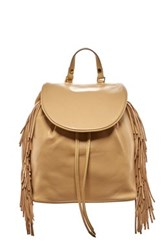 Sam Edelman Fifi Leather Fringe Backpack Brown