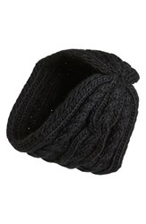 Women's Michael Michael Kors Cable Knit Headband Black
