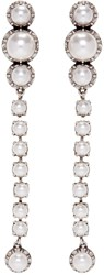 Lanvin Silver Pearl Drop Earrings