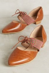 Anthropologie Kmb Cutout Oxfords Cognac