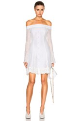 Nicholas Cornelli Lace Fit And Flare Dress In White