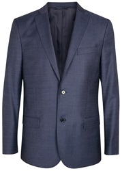 J. Lindeberg Hopper 140'S Platinum Blue Wool Jacket