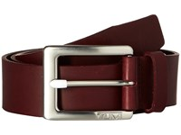 Tumi Casual Leather Belt Nickel Satin Burgundy Men's Belts Brown