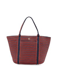 Prep Striped Tote Bag Flame Navy Eric Javits