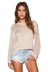 Minkpink Ghost Ship Sweater Taupe