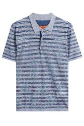 Missoni Cotton Blend Polo Shirt Blue
