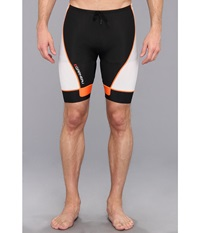 Louis Garneau Men Pro 8 Shorts Black Fluro Orange Men's Shorts White