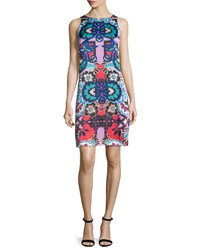 Nanette Lepore Sleeveless Floral Print Sheath Dress Red Multi Size 4 Red Multi